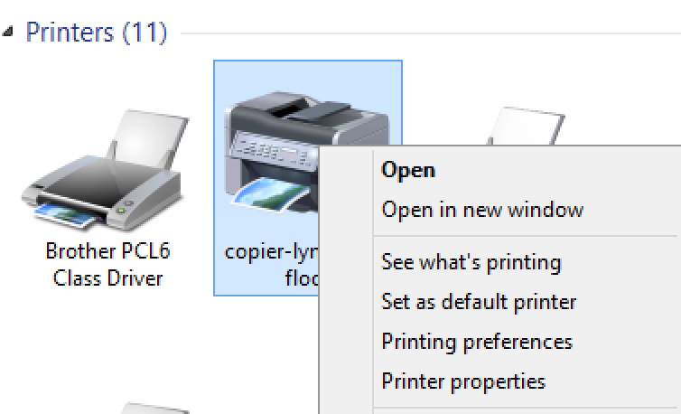 How to set your user code for printing to a Ricoh copier in