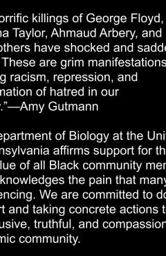 statement from Penn Bio